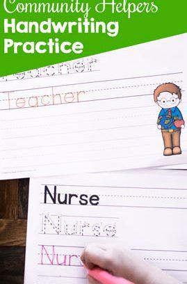 Community Helpers Handwriting Practice