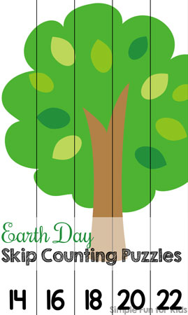 Are you helping your kids learn skip counting by 2s? Try these fun Earth Day Skip Counting Puzzles for kindergarteners!