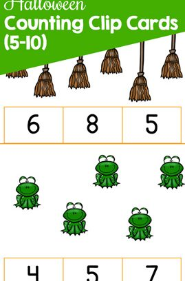 Halloween Counting Clip Cards (5-10)