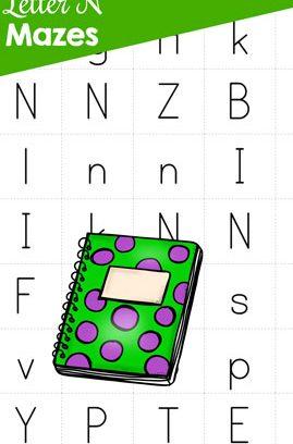 Letter N Mazes