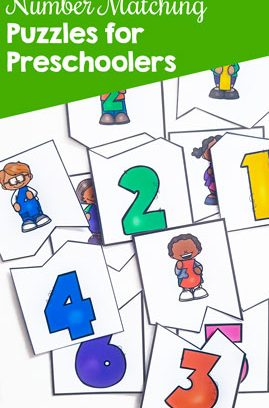 Number Matching Puzzles for Preschoolers