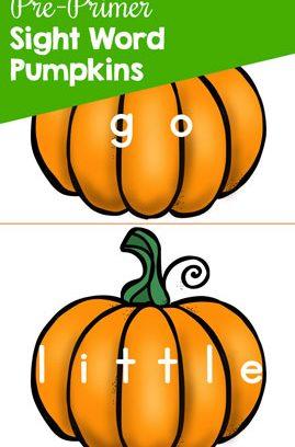 Pre-Primer Sight Word Pumpkins Printable