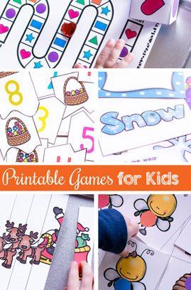 Printable Games for Kids