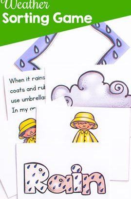 Printable Weather Sorting Game
