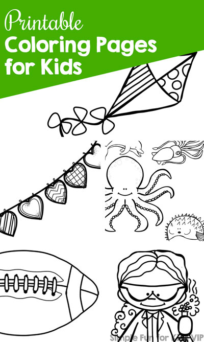 Printable Coloring Pages For Kids Simple Fun For Kids Vip