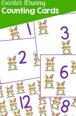 Easter Bunny Counting Cards