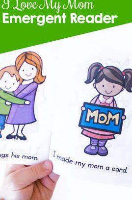 I Love My Mom Emergent Reader