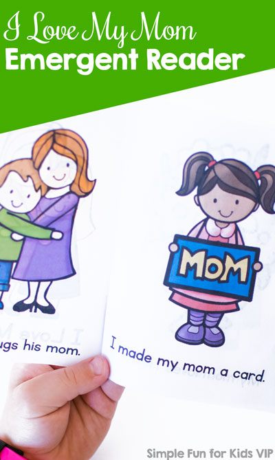 Whether for Mother's Day or any other day of the year, kindergarteners will get a kick out of reading this printable I Love My Mom! Emergent Reader out loud to their moms! Fun images and simple words are used.