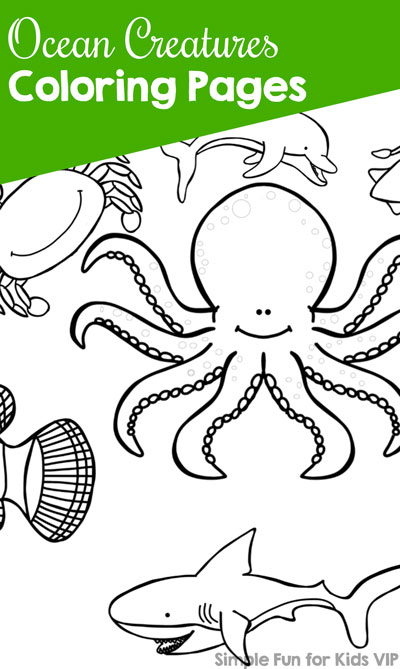 Ocean Creatures Coloring Pages - Simple Fun for Kids VIP