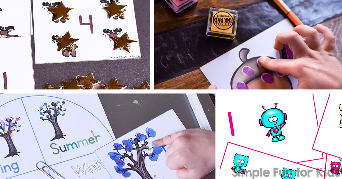 Printable Counting Cards for Kids - Simple Fun for Kids VIP
