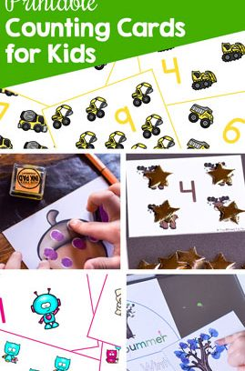 Printable Counting Cards for Kids