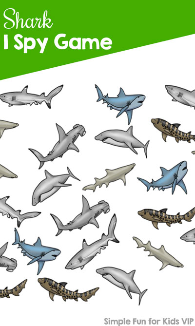 Celebrate shark week (or any week!) with this shark I spy printable!
