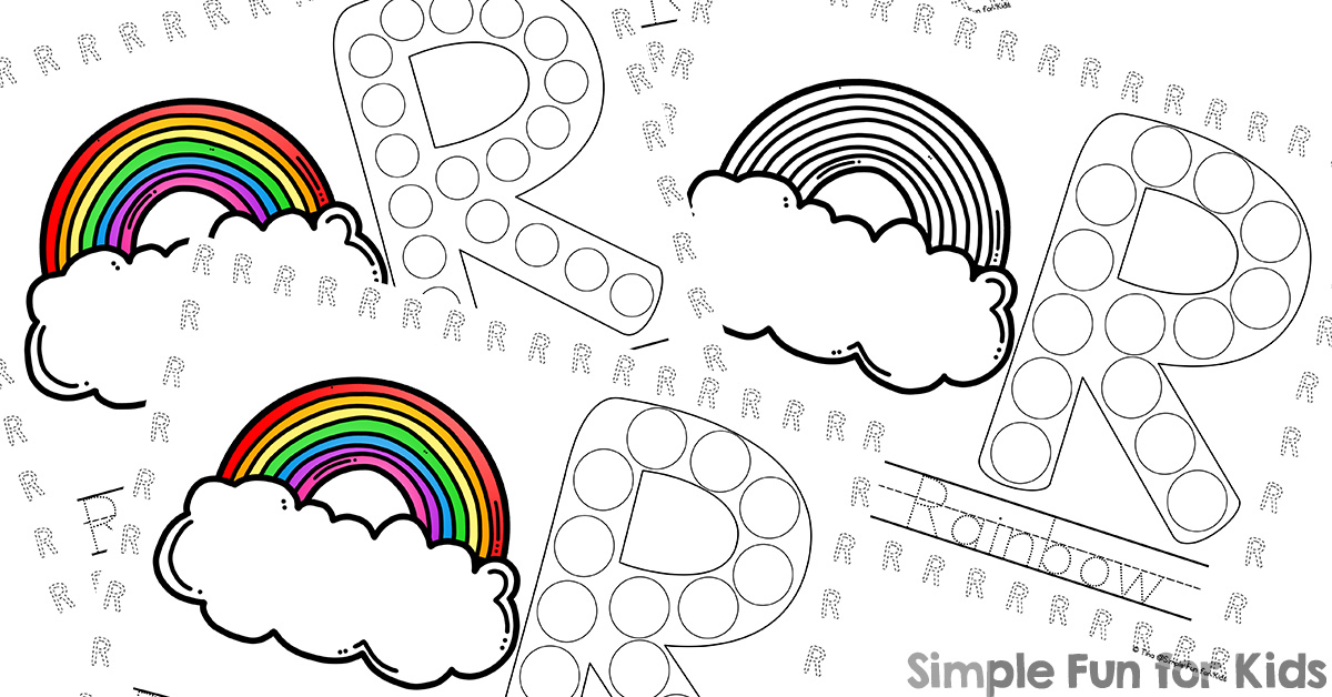 Letter R Coloring Pages  dltkteachcom