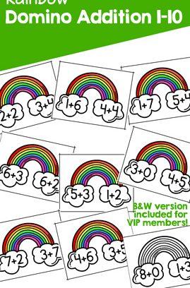 Rainbow Domino Addition 1-10