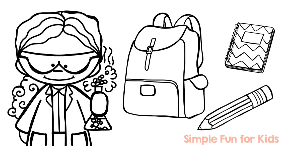 Back to school coloring pages simple fun for kids vip for Back to school coloring pages free printables