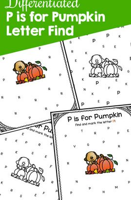 P is for Pumpkin Letter Find