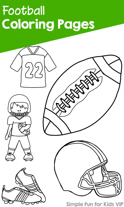 Football Coloring Pages Simple Fun for Kids VIP