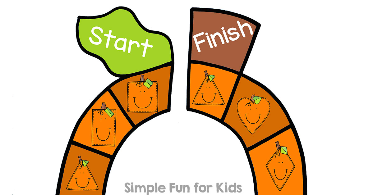 Pumpkin Shapes Board Game Simple Fun For Kids Vip