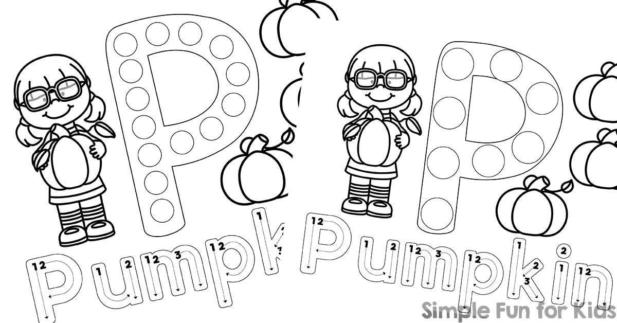 P Is For Pumpkin Dot Marker Coloring Pages Simple Fun