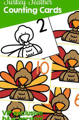 Turkey Feather Counting Cards