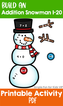 Build an Addition Snowman 1-20