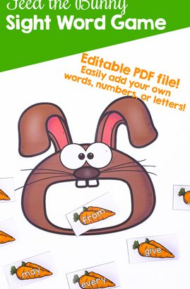 Feed the Bunny Sight Word Game