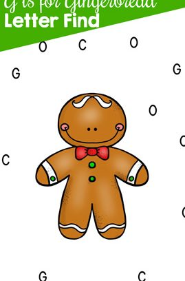 G is for Gingerbread Letter Find