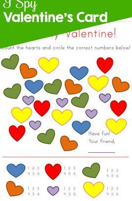 I Spy Valentine's Card Printable