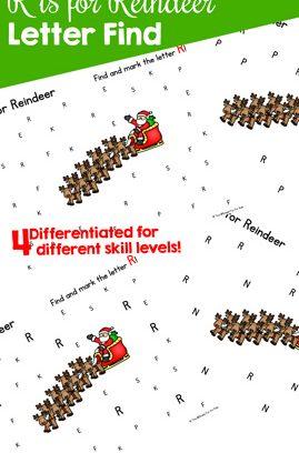 R is for Reindeer Letter Find