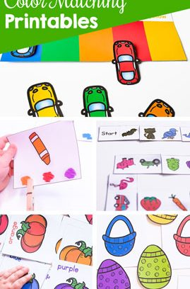 Color Matching Printables for Kids