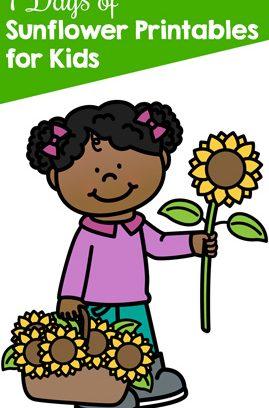 7 Days of Sunflower Printables for Kids