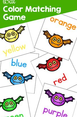 Bat Color Matching Game for Toddlers