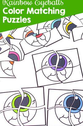Rainbow Eyeballs Color Matching Game