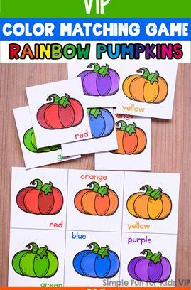 Rainbow Pumpkin Color Matching Game