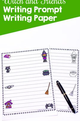 Witch and Friends Writing Prompt Writing Paper