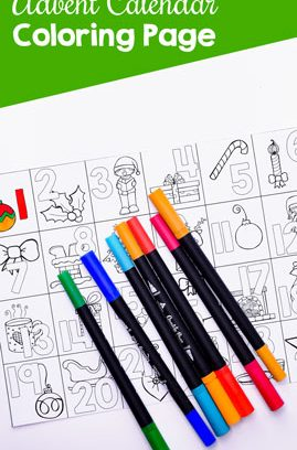 Advent Calendar Coloring Page