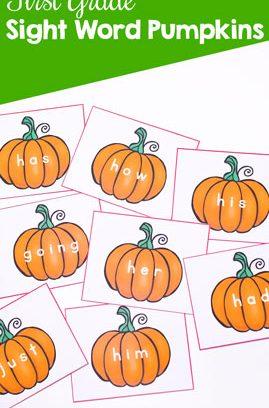 First Grade Sight Word Pumpkins