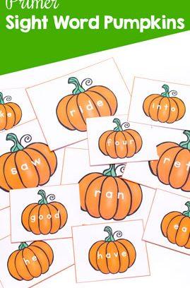 Primer Sight Word Pumpkins