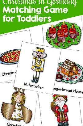 Christmas in Germany Matching Game for Toddlers