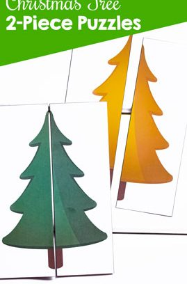 Christmas Tree 2-Piece Puzzles