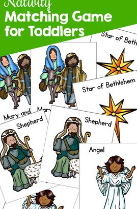 Nativity Matching Game for Toddlers