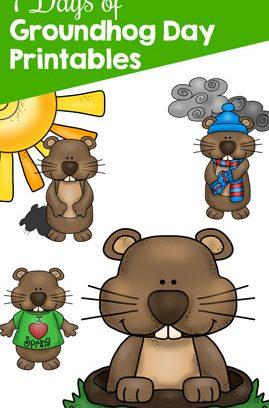 7 Days of Groundhog Day Printables