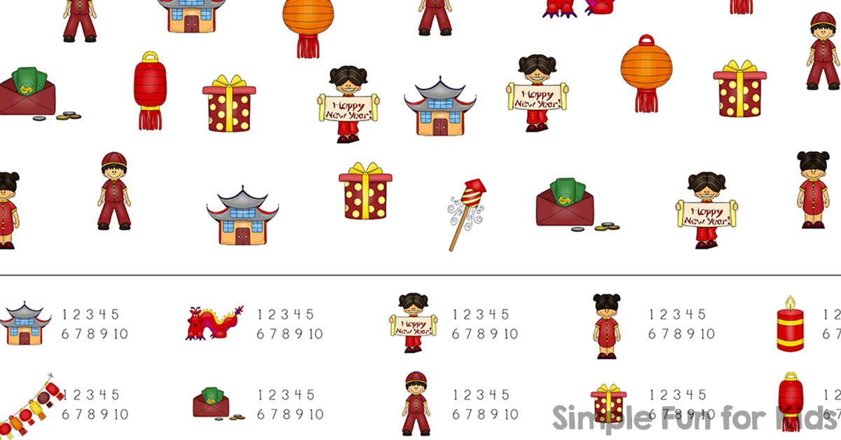 Chinese New Year I Spy Game Simple Fun For Kids Vip
