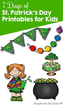 Sign up to keep up with the 7 Days of St. Patrick's Day Printables for Kids series! You'll get fun educational math and literacy printables for toddlers, preschoolers, and kindergarteners on a daily basis. Download the VIP version in one click!