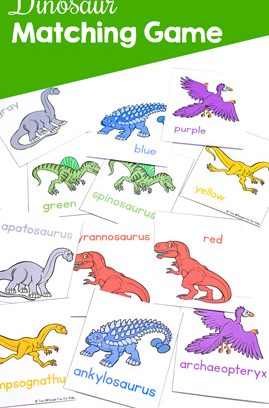 Dinosaur Matching Game for Toddlers