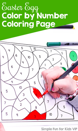Practice number recognition, fine motor skills, and more with this cute Easter Egg Color by Number Coloring Page. Different versions with different fonts and answer key available. Great for kindergarteners and preschoolers for a fun way to learn.