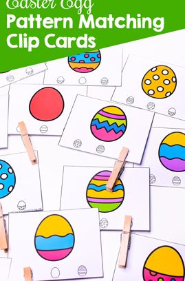 Easter Egg Pattern Matching Clip Cards