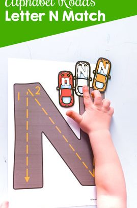 Alphabet Roads Letter N Match