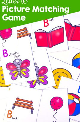 Letter B Picture Matching Game