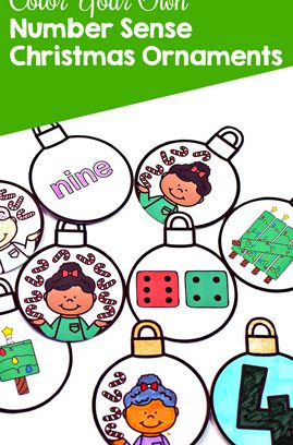 Color Your Own Candy Cane Number Sense Christmas Ornaments
